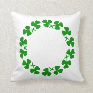 St. Patrick's Day Shamrock Ring  Pillow