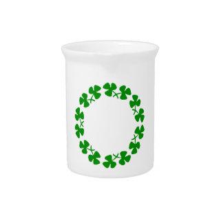 St. Patrick's Day Shamrock Ring Pitcher