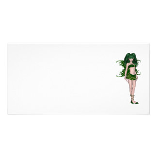 St Patrick s Day Sprite 5 - Green Fairy Photo Greeting Card