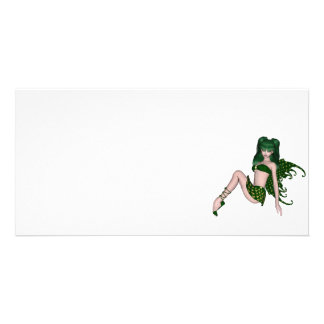 St Patrick s Day Sprite 6 - Green Fairy Photo Card