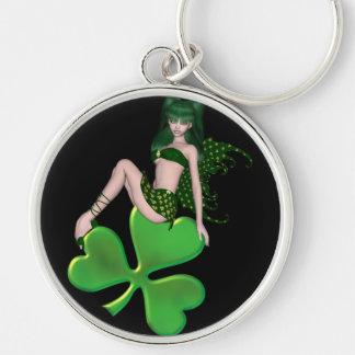 St Patrick s Day Sprite 7 - Green Fairy Keychain