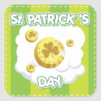 St Patrick s Day square Sticker