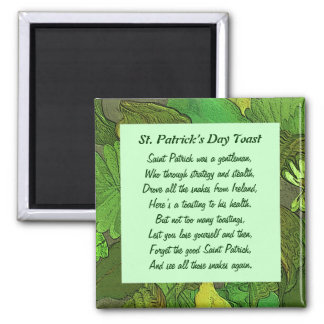 St. Patrick's Day Toast. Irish folklore Magnet