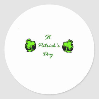 St Patrick s Day white Stickers