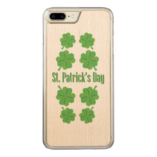 St. Patrick's Day with clover Carved iPhone 8 Plus/7 Plus Case