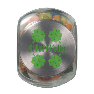 St. Patrick's Day with clover Glass Jars