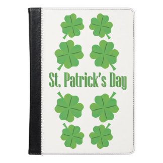 St. Patrick's Day with clover iPad Air Case