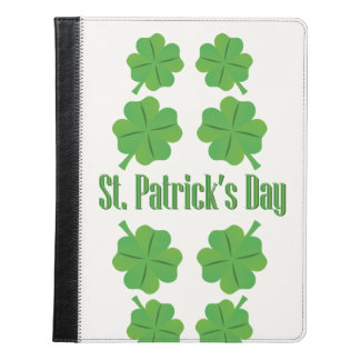 St. Patrick's Day with clover iPad Case