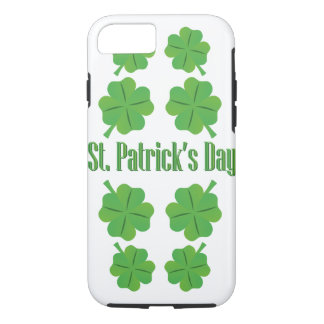 St. Patrick's Day with clover iPhone 8/7 Case