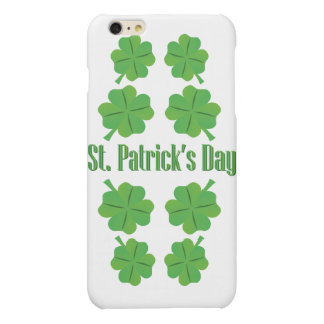 St. Patrick's Day with clover Matte iPhone 6 Plus Case