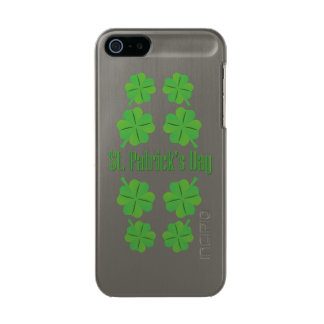 St. Patrick's Day with clover Metallic Phone Case For iPhone SE/5/5s