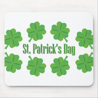 St. Patrick's Day with clover Mouse Pad