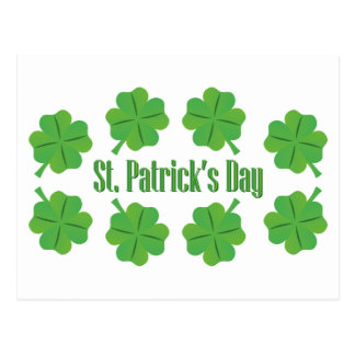 St. Patrick's Day with clover Postcard