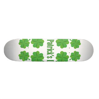 St. Patrick's Day with clover Skateboard