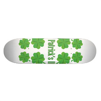 St. Patrick's Day with clover Skateboard Deck
