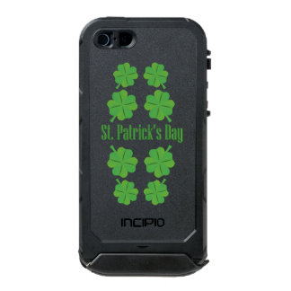 St. Patrick's Day with clover Waterproof iPhone SE/5/5s Case