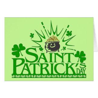 St. Patrick's Gold Pot Card