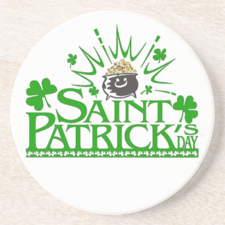St. Patrick's Gold Pot Coaster