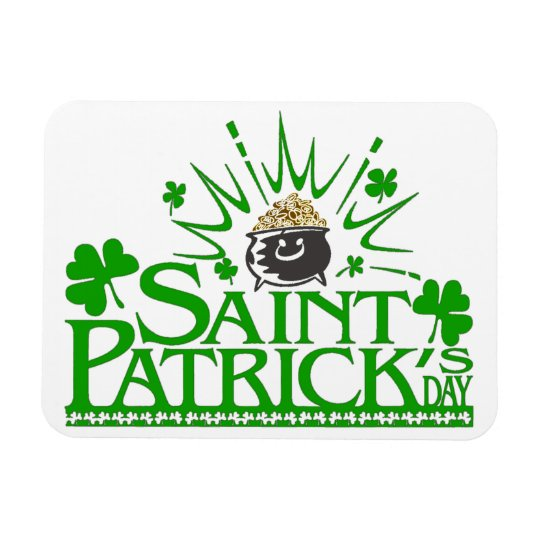 St. Patrick's Gold Pot Flexible Magnet