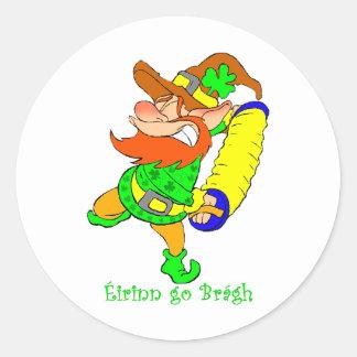 St Patrick s Leprechaun playing music Stickers