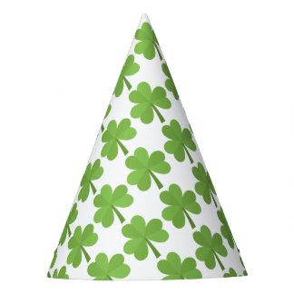 St. Patrick Shamrock Irish Ireland Clovers Pattern Party Hat