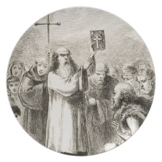 St. Patrick showing the people of Ireland the Four Dinner Plate