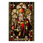 St. Patrick Stained Glass Art Deco Poster