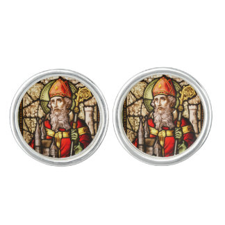 St Patrick Stained Glass Cufflinks