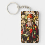 St Patrick Stained Glass Rectangular Acrylic Key Chains