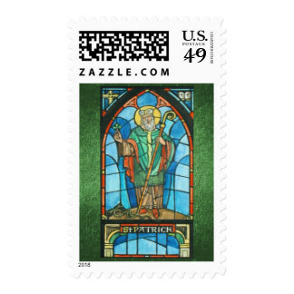 St. Patrick Stained Glass Window Reproduction Stamps