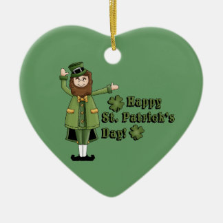 St Patrick Wishes You A Happy St Pats Day Ceramic Ornament
