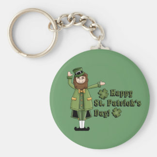 St Patrick Wishes You A Happy St Pats Day Keychain