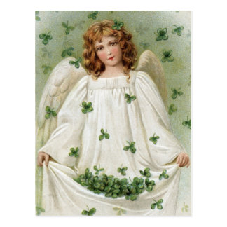 St. Patricks Angel bringing you good luck Postcard