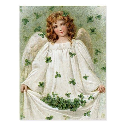 St. Patricks Angel bringing you good luck Post Cards