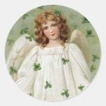 St. Patricks Angel bringing you good luck Classic Round Sticker