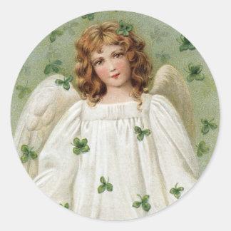St. Patricks Angel bringing you good luck Sticker