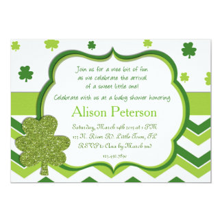 St. Patrick's Baby Shower Card