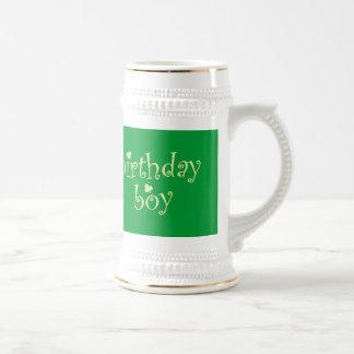 St Patrick's Birthday Boy with Shamrocks Coffee Mug