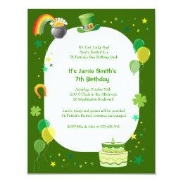 Leprechaun birthday party invitations announcements zazzle st patricks birthday costume party invitation filmwisefo Image collections