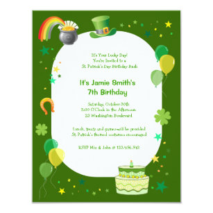 leprechaun birthday invitations zazzle