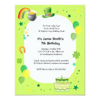 St. Patrick's Birthday Costume Party Invitation