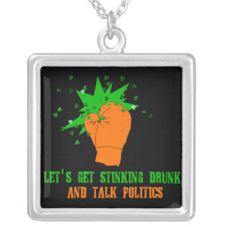 St. Patrick's Boxing Day Square Pendant Necklace