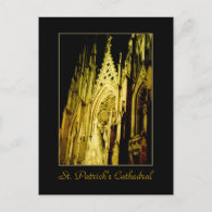 'St. Patrick's Cathedral at Night' Postcard