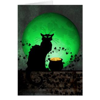 St. Patrick's Chat Noir Card