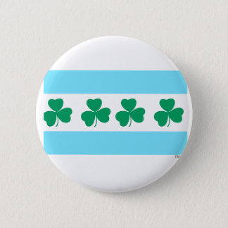 St Patrick's Chicago Dye the River Green Pinback Button