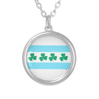 St Patrick's Chicago Dye the River Green Silver Plated Necklace