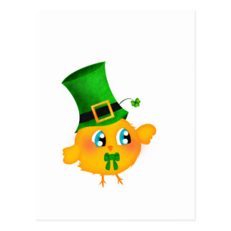 St-Patrick's Chick Postcard