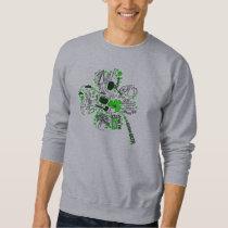 St. Patrick's Clover Fun Word Art Pattern Sweatshirt