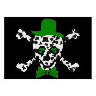 St. Patrick's Cow Skull Large Business Card
