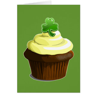 St. Patrick's cupcake greeting card
